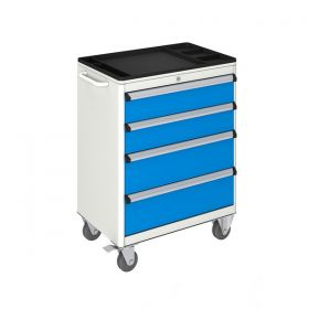 MOBILE TOOL CABINET (700x450x930 mm) 4 DRAWERS