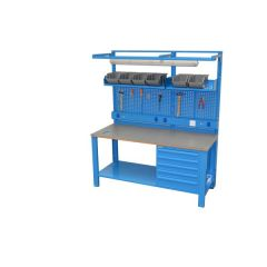 WORKBENCH WITH ADJUSTABLE LEGS (1700x720x830-930 mm)