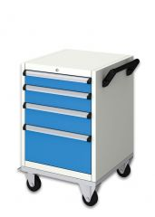 MOBILE TOOL CABINET (560x590x690 + 170 mm) 4 DRAWERS