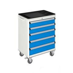 MOBILE TOOL CABINET (700x450x930 mm) 5 DRAWERS